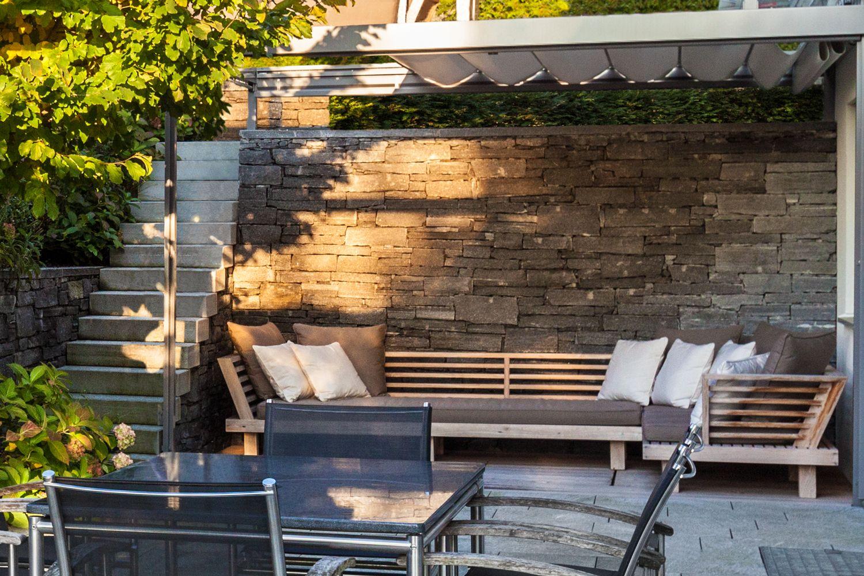 ausgezeichnet sichtschutz auf sttzmauer bilder die besten wohnideen. Black Bedroom Furniture Sets. Home Design Ideas
