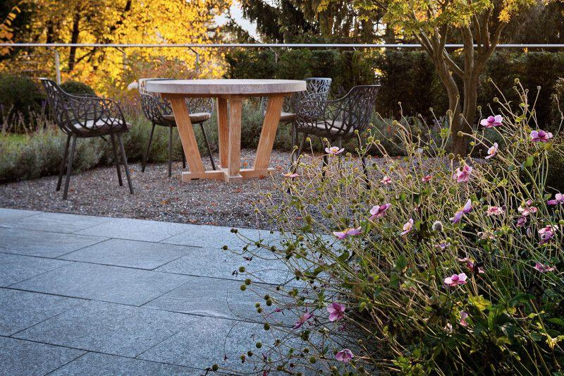 Gartensitzplatz Herbst