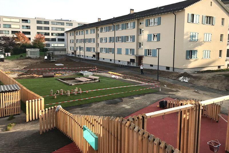 Umgebungsgestaltung Wohnüberbauung Luegisland, Zürich