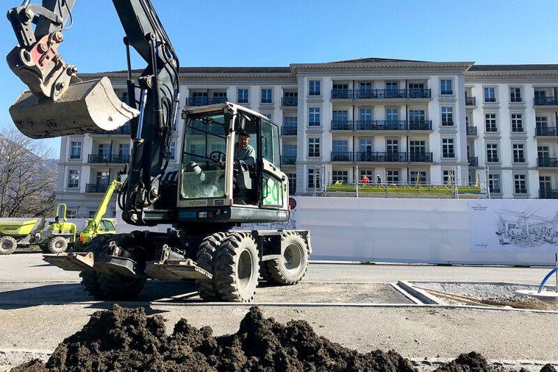 1. Etappe: Umgebungsgestaltung Parkanlage Hotel Quellenhof, Bad Ragaz