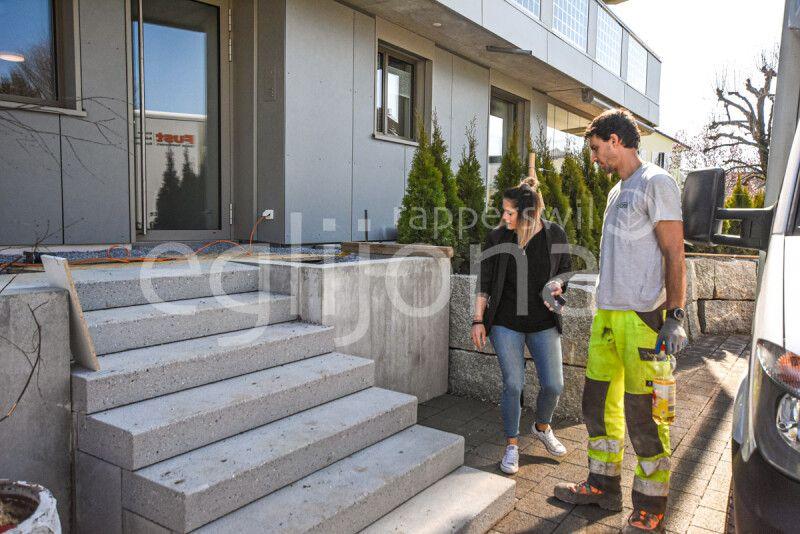 Gartengestaltung für modernen Neubau, Rapperswil-Jona