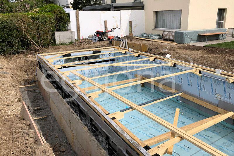 Infinity Pool mit Living Pool-Technik, Region Zürich