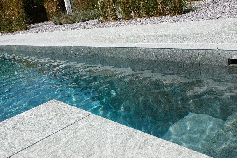 Naturpool Swimming-Pool mit Naturstein