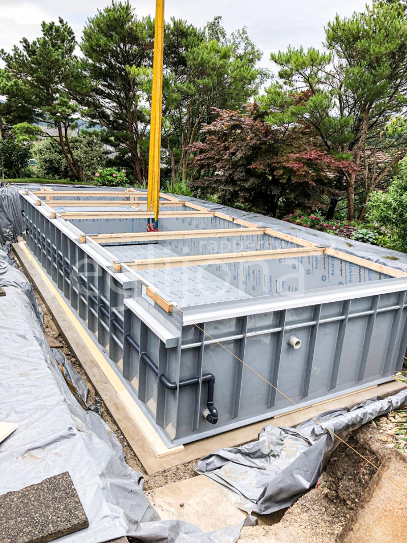 Umbau konventioneller Pool zu einem Living Pool, Region Aargau