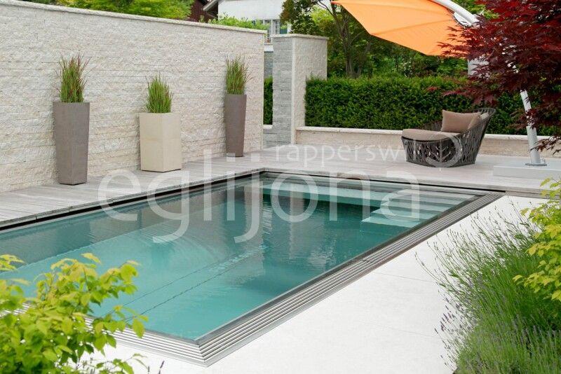 Naturpool Swimming-Pool mit Edenstahlbecken