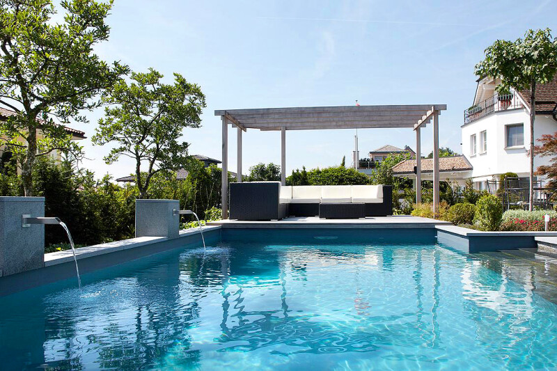 Swimming-Pool mit Folien-Auskleidung