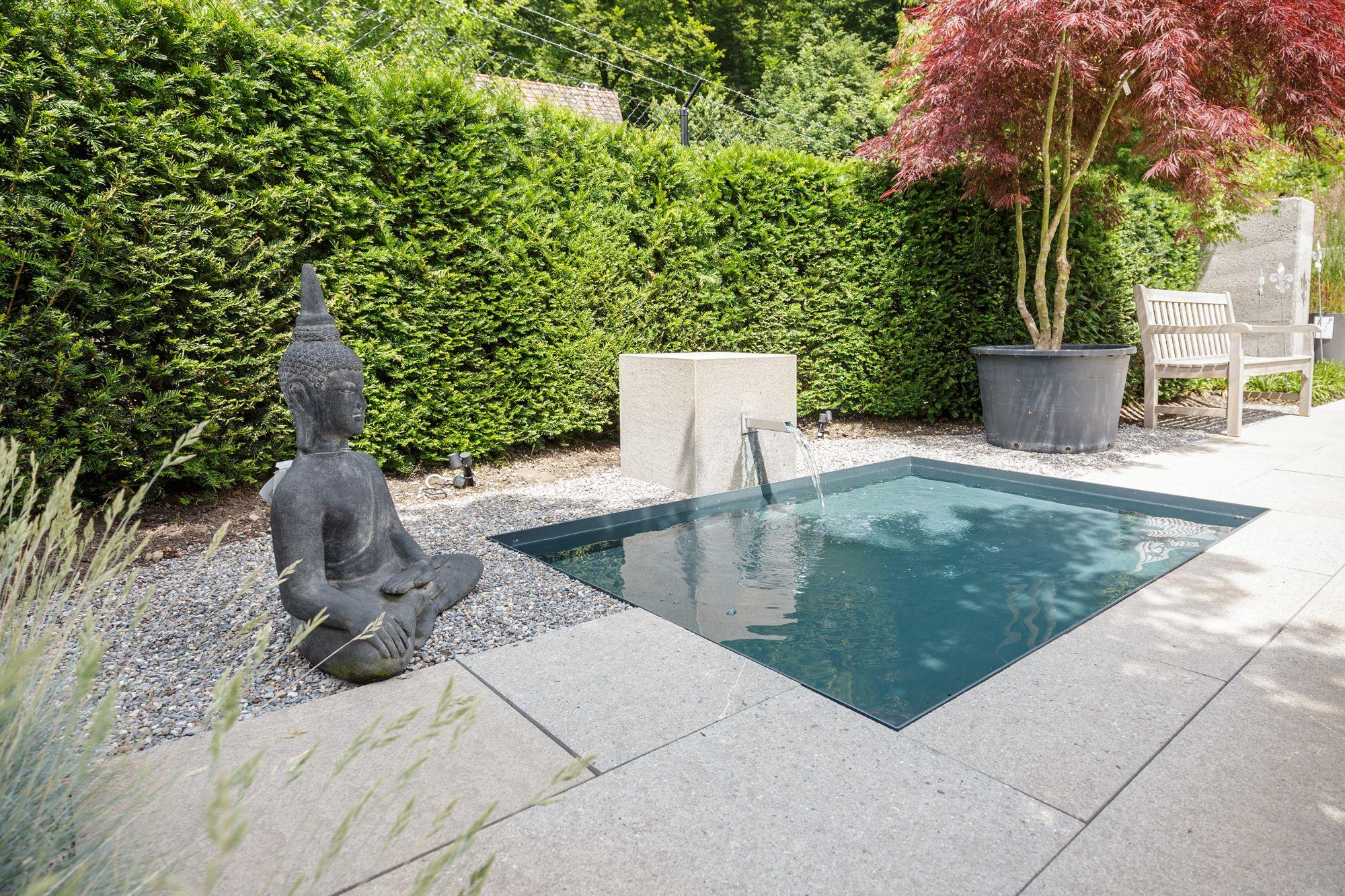 Wasserspiel terrasse swalif - Wasserrinne garten ...
