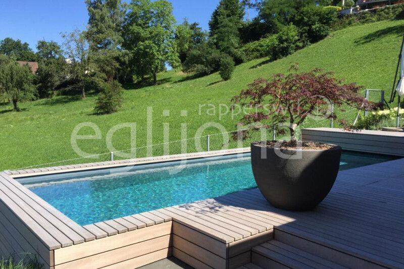 Naturpool Swimming-Pool mit Folie