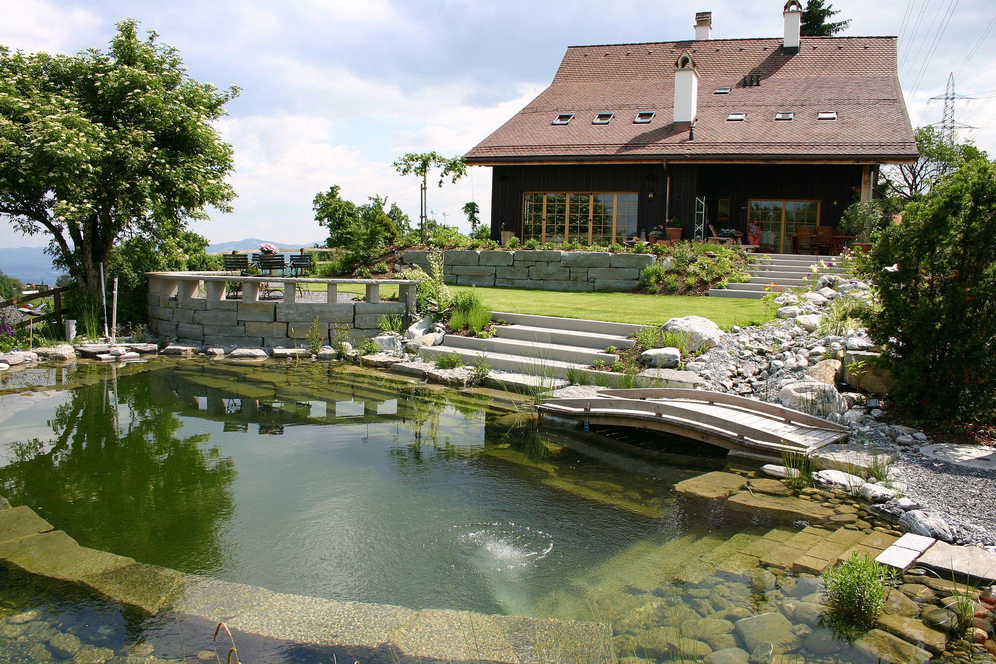 Klassikteich schwimmteich kategorie 2 egli jona ag for Naturteich schwimmteich