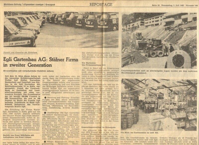 1982: Ein weitere Zeitungsartikel